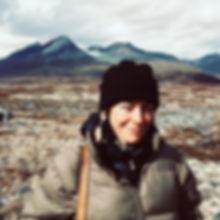 Stephanie on the Yukon tundra, 2019