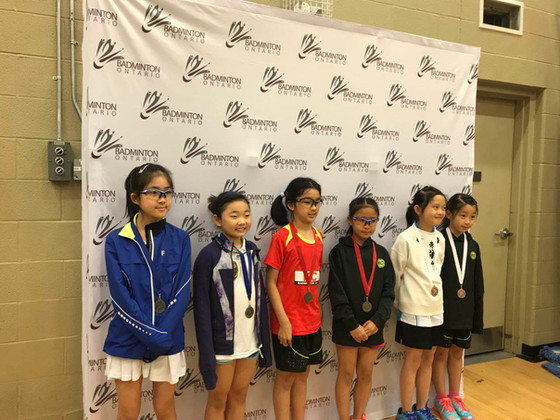 18.19 BLACK KNIGHT Badminton Ontario Jr HP A Series #2A - Haber - U11 U13 U15 U17 U19