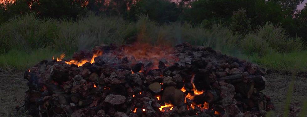 Kiln ablaze