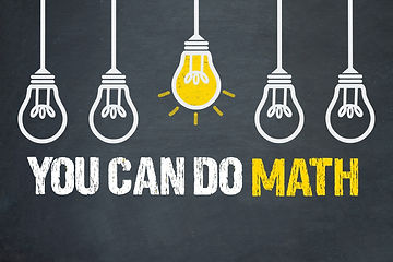 you can do math graphic with lightbulbs