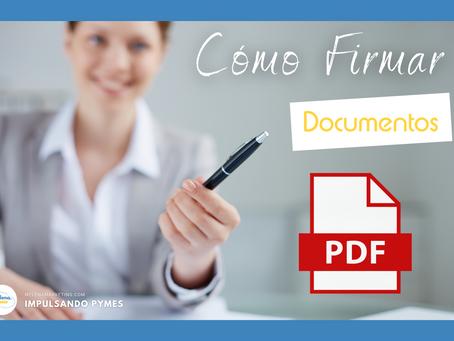 Cómo firmar documentos PDF