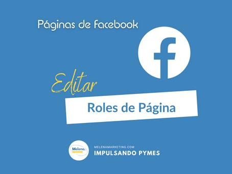 Cómo editar Roles de Página en Facebook