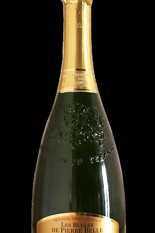 Schaumwein -Bulles de Pierre Belles, 100% Viognier (F) Méthode Traditionnel