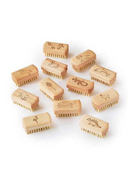 The Lovely Chickpea - Kinder Nagelbürste aus Holz / 1 Stück