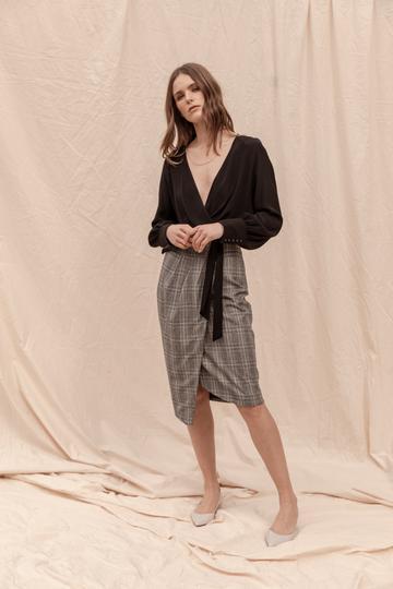 Kensington Tailored Skirt -Check