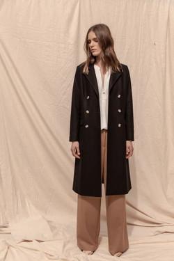 Belmont Wool Cashmere Coat - Black