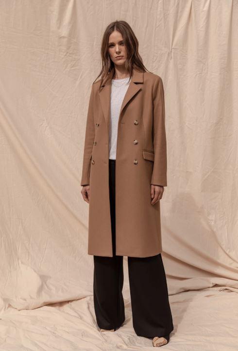 Belmont Wool Cashmere Coat - Camel