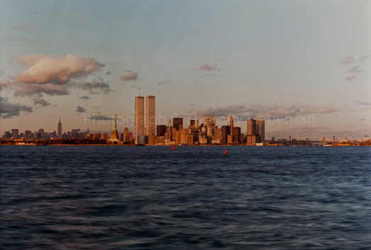 New York Harbor from Bayonne New Jersey 1981