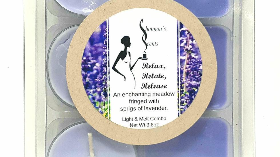 Relax, Relate, Release Light & Melt Combo