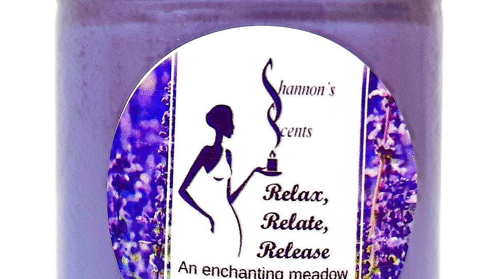 Relax, Relate, Release Soy Wax Candle