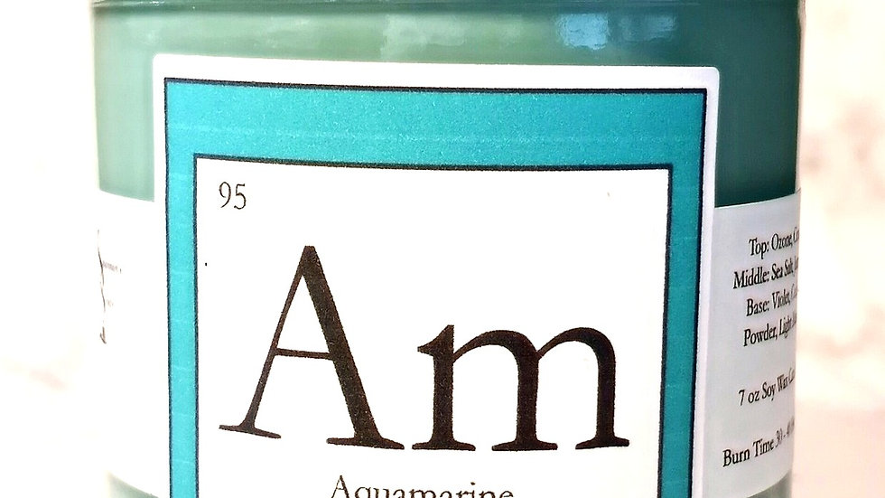 Am - Aquamarine Soy Wax Candle