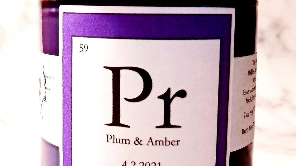 Pr - Plum & Amber Soy Wax Candle