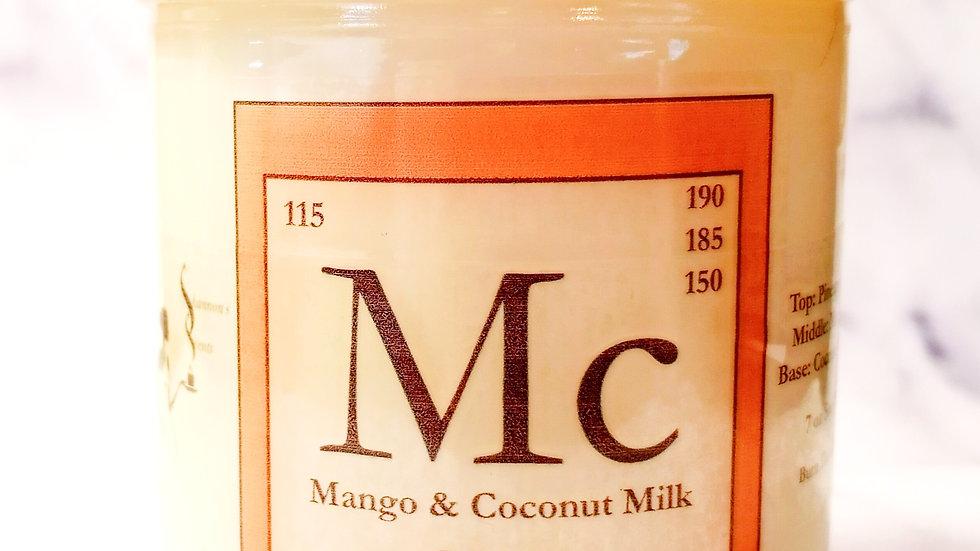 Mc - Mango & Coconut Milk Soy Wax Candle