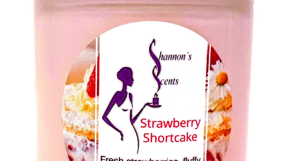 Strawberry Shortcake Soy Wax Candle