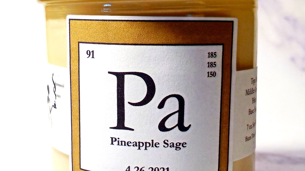 Pa - Pineapple Sage Soy Wax Candle