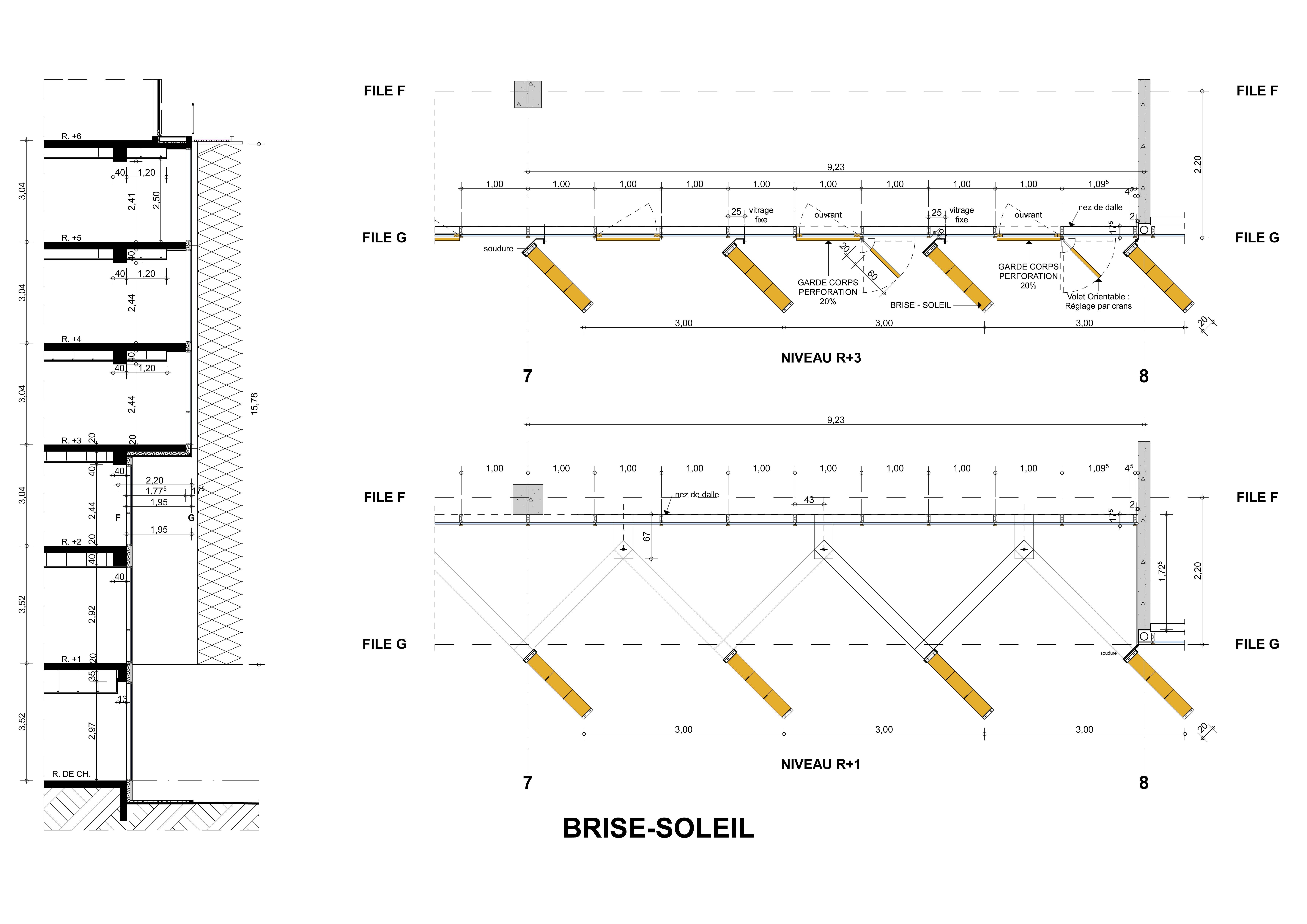 DETAIL 1 BRISE-SOLEIL _