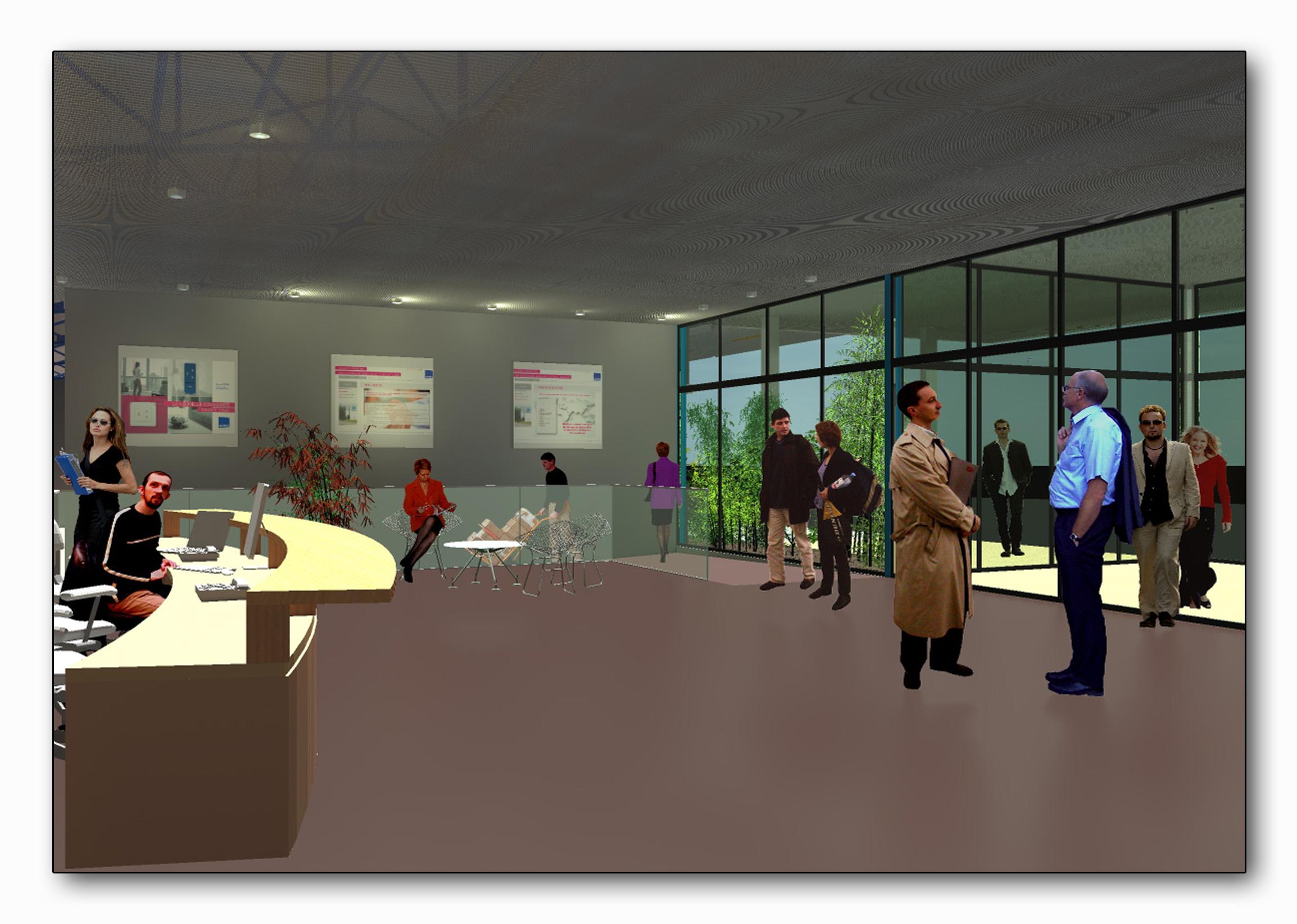 Perspective intérieure show room