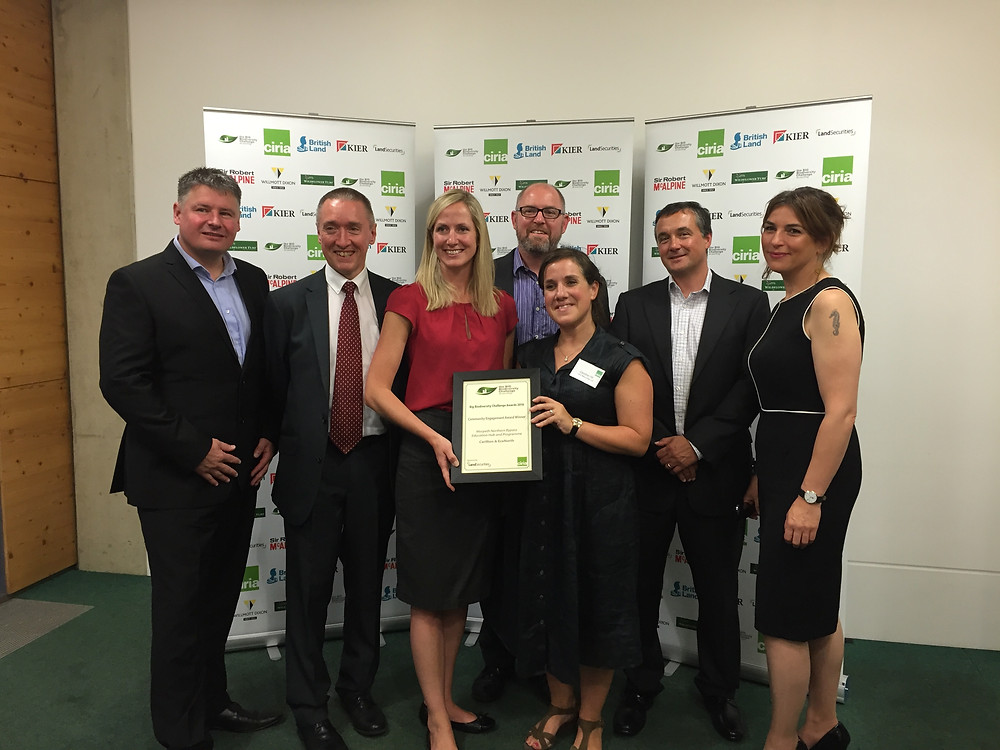 The Morpeth Northern Bypass Education Hub and Programme Carillion and EcoNorth receiving their Award
