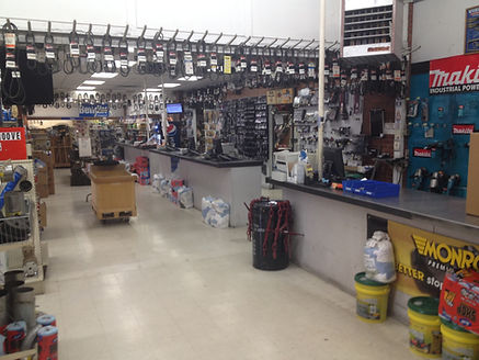 Wide view of the Brake Shop and Main Parts counters in Marysville