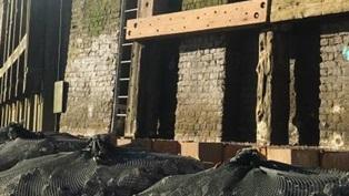 Coldharbour River wall repair