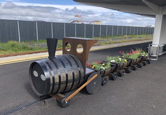 Portrush train station-bee planters