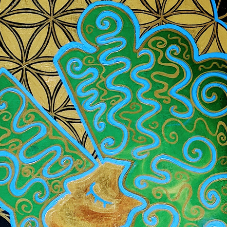 RESERVED Golden Teacher | Jay Percy Art | Psychedelic Art | Visionary Art