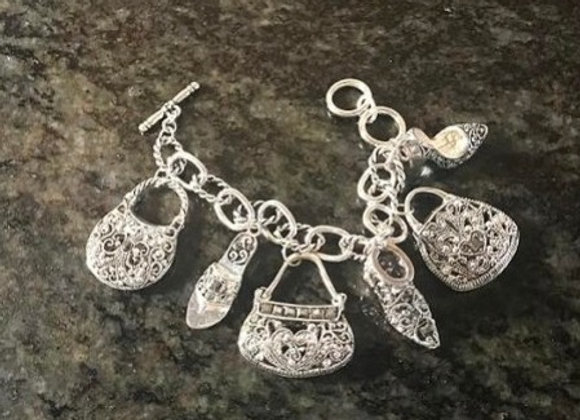Classic Shoes & Purses Charm Bracelet
