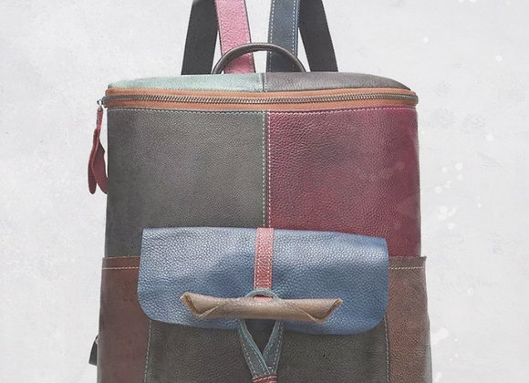 Multi-Color Leather Backpack