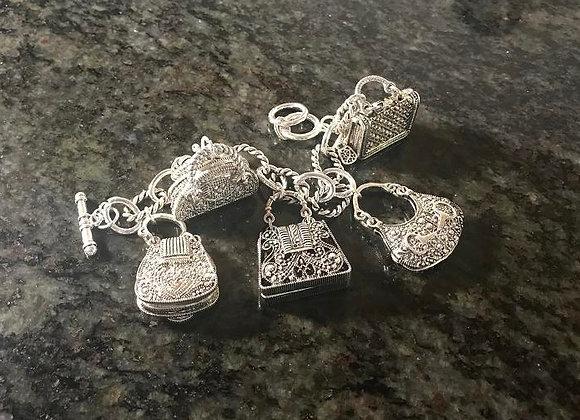 Handbag Fetish Charm Bracelet