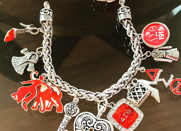 Delta Sigma Theta Charm Bracelet