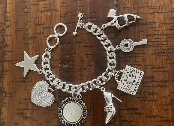 The Diva Charm Bracelet w-Pendant