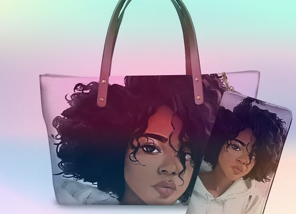 Chocolate Gurls Shoulder Bag w/Matching Wallets