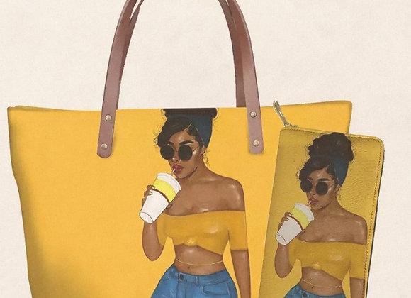 Chocolate Gurls Shoulder Bags w/Matching Wallet