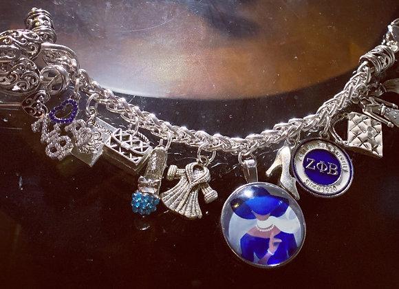 Zeta Phi Beta Charm Bracelet