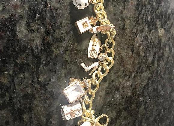 Designer White Themed Charm Bracelet