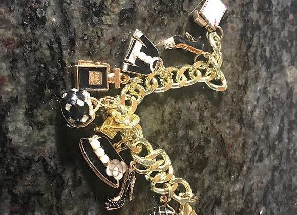 Designer Black Themed Charm Bracelet