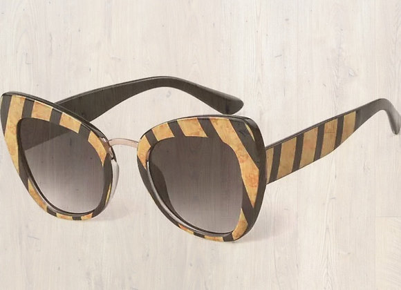Bodacious Tiger Striped Sun Glasses