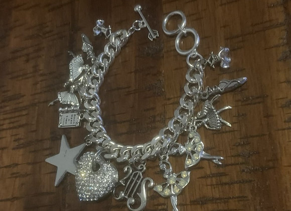 Dance Dance Dance! Charm Bracelet