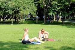 悠閒大安公園午後