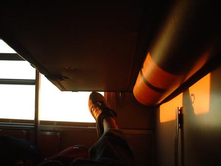 前往巴塞隆納Barcelona火車上的遙遙晃晃