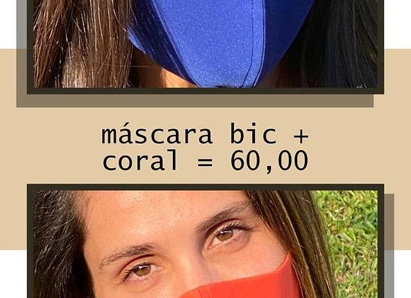 KIT 2 Máscaras Bico