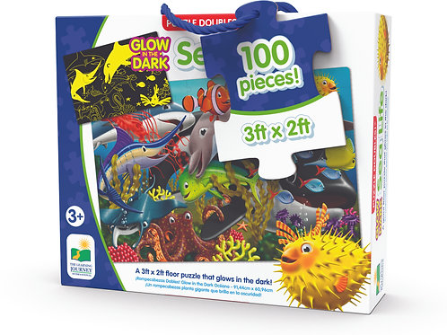 Puzzle Doubles - Glow in The Dark - Sea Life - 100 Piece