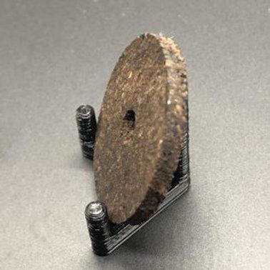 """1/8"""" Burnt Burl Inlay Ring"""