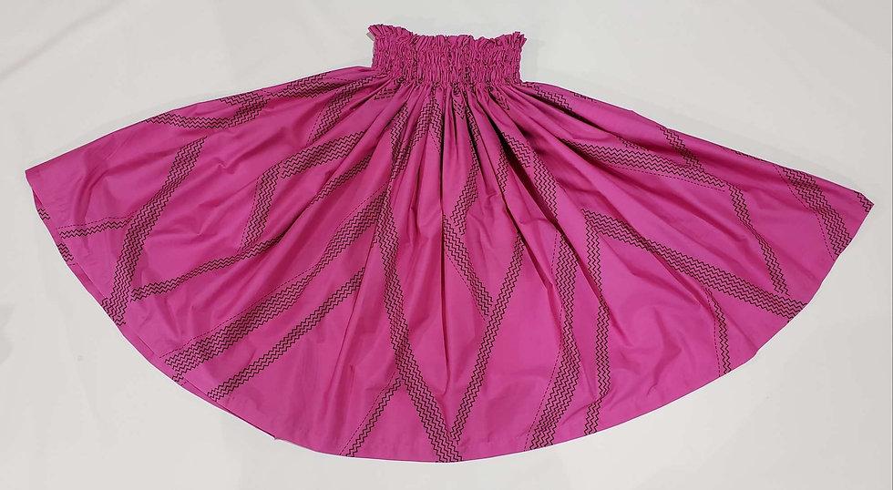 (Reverse) Mountain Design Pa'u Skirt