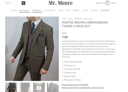Mr Munro Suits