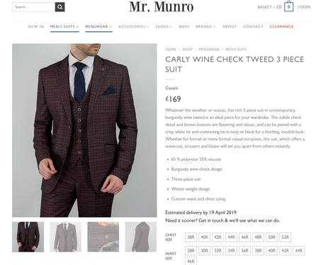 Mr Munro Menswear
