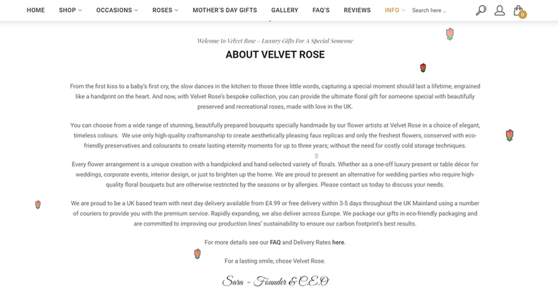 Velvet Rose Box