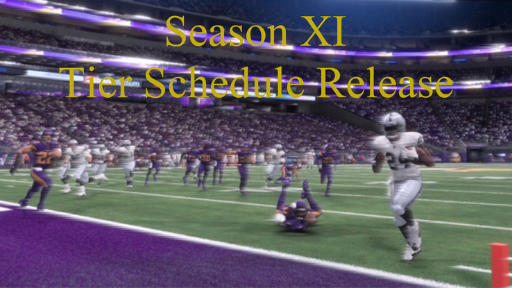 Tier Scheduling Released for Season XI