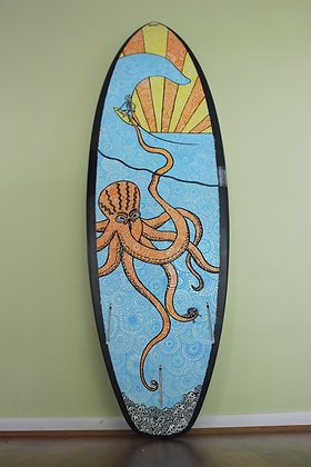Hand painted surfboard design