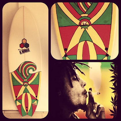 Hand painted surfboard